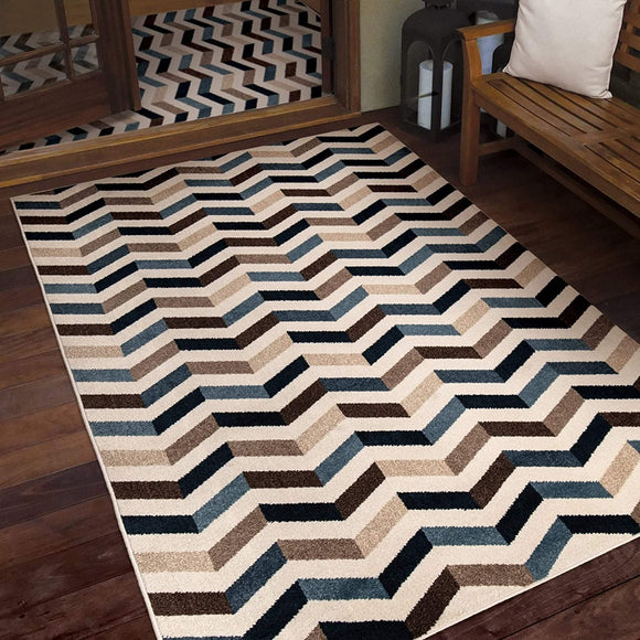 Farmhouse Blue Area Rug (3'9