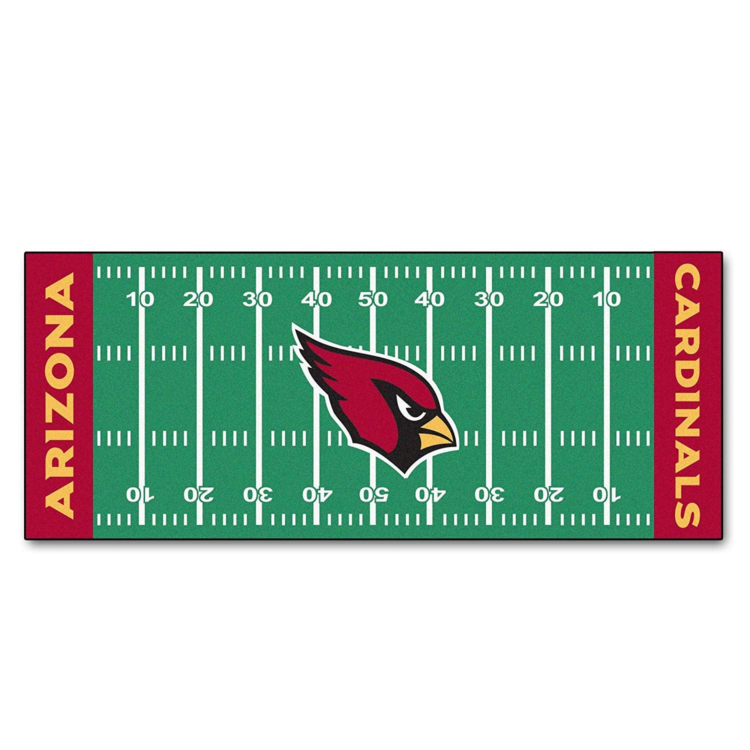 30x72 NFL Cardinals Rug Football Field Runner xl Long Yoga Mat Sports Area Rug Boys Bedroom Living Room Bathroom Rugs Runner Floor Carpet Athletic