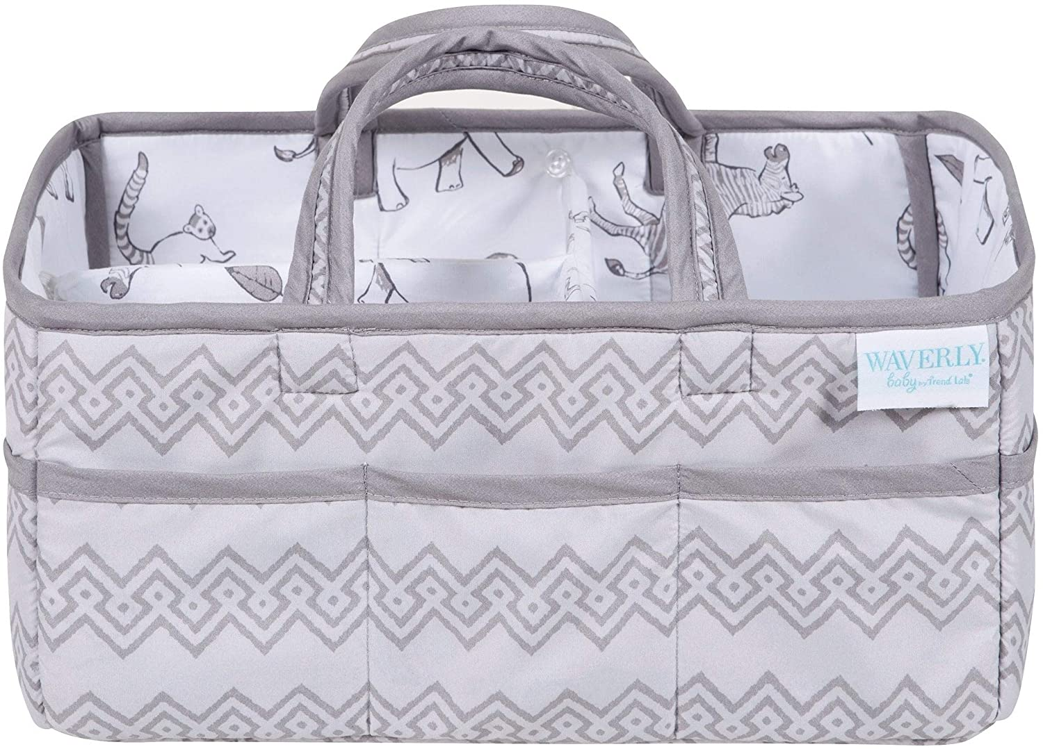 Congo Line Diaper Caddy Grey Boys Synthetic Fiber