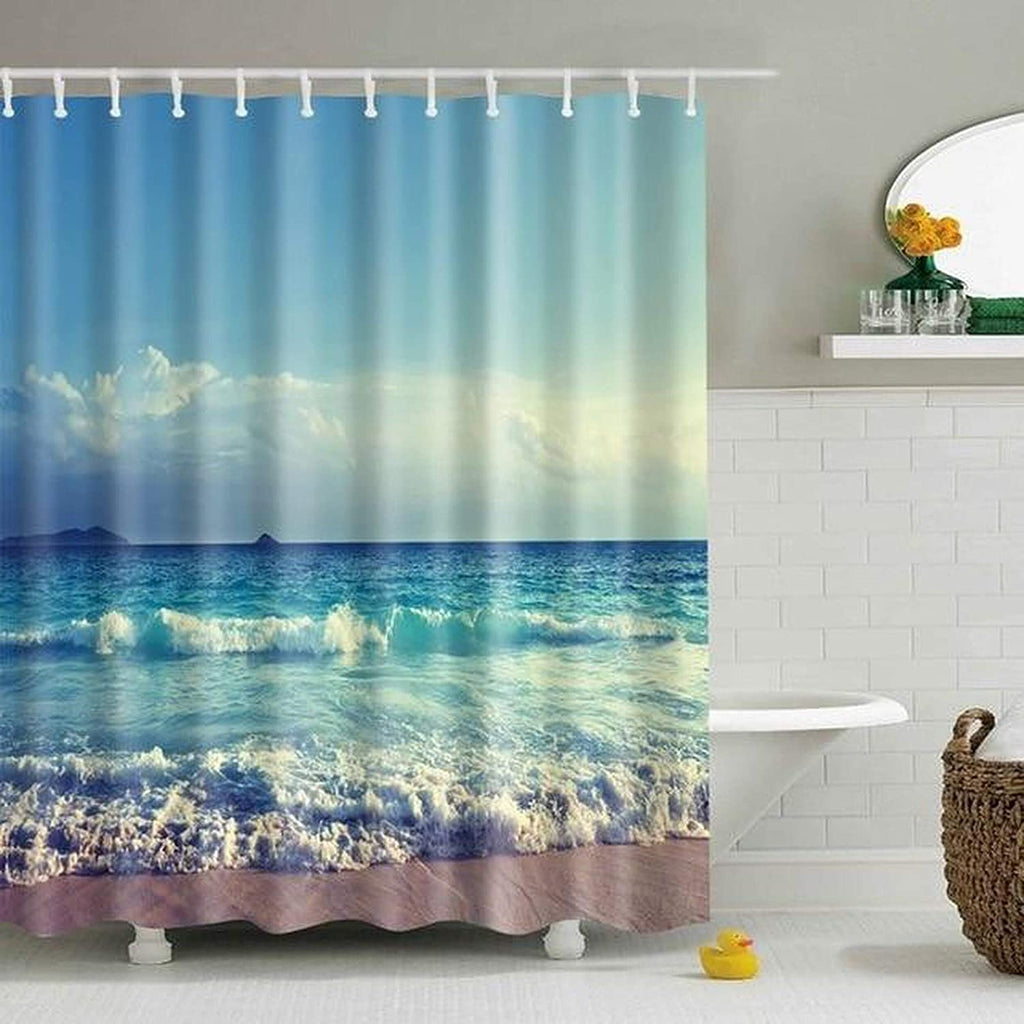 Waterproof Shower Curtain Landscape Curtains 180180 cm Graphic Casual Polyester