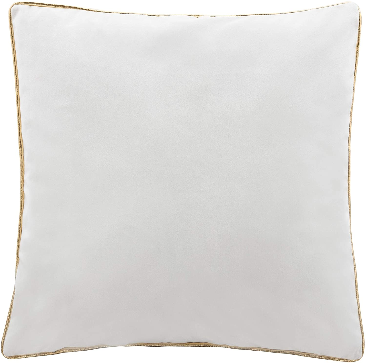 "18"" Pillow Gold White Graphic Modern Contemporary Polyester Single"