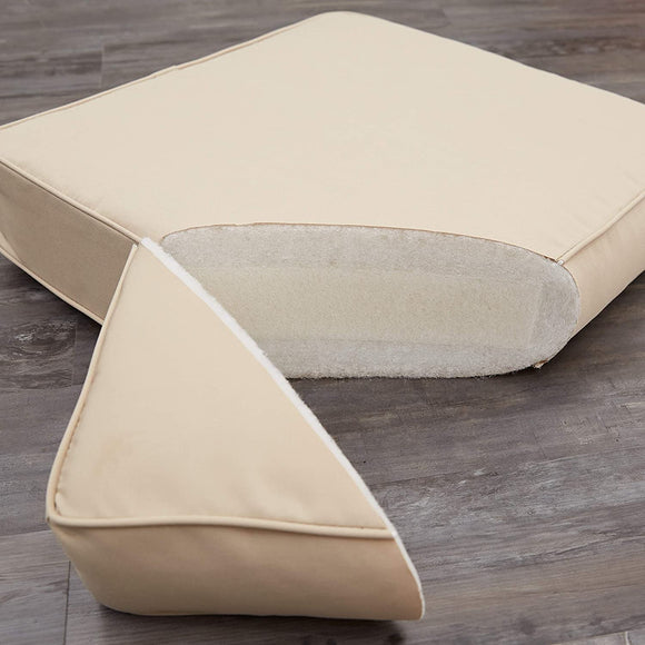 Outdoor Yellow Pillows Made (Set 2) Tan Solid Transitional Uv Resistant