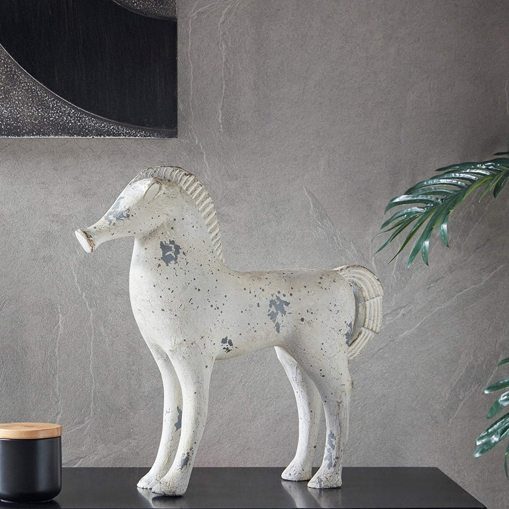 Gray Wash Horse Grey Bohemian Eclectic Transitional Metal Handmade