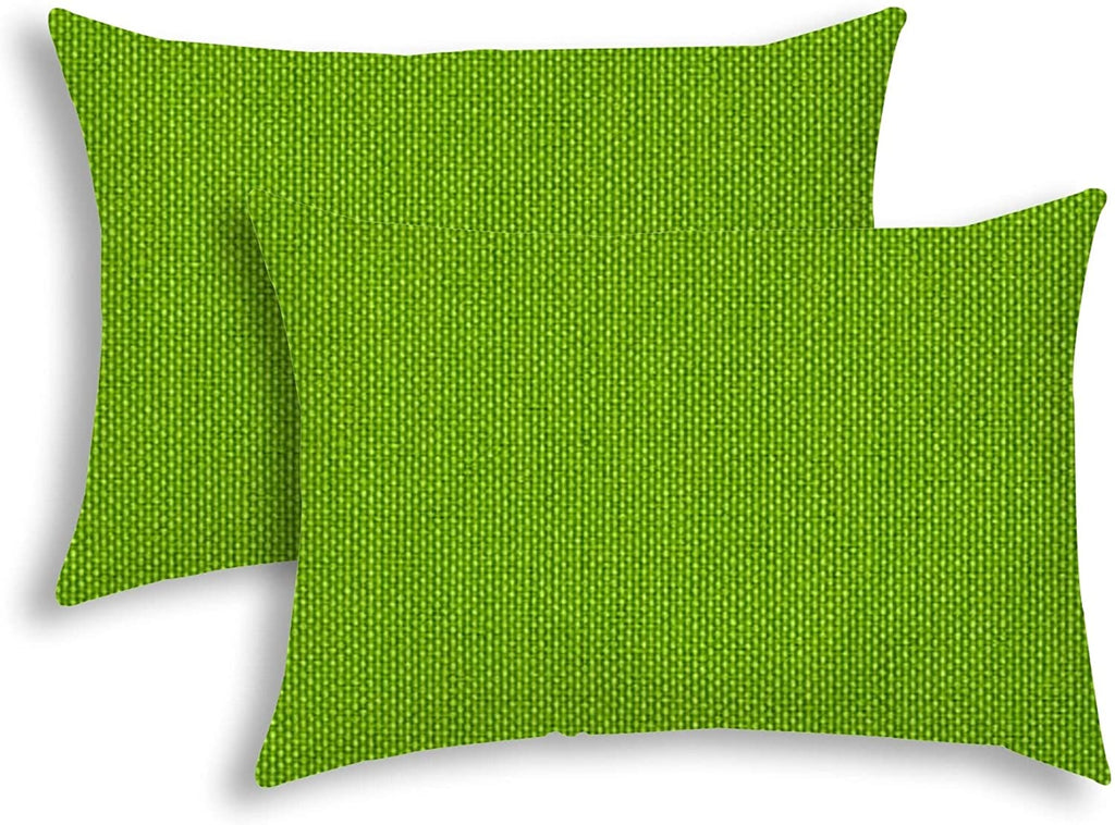 Lime Indoor/Outdoor Pillow Sewn Closure (Set 2) Color Graphic Modern Contemporary Polyester Water Resistant