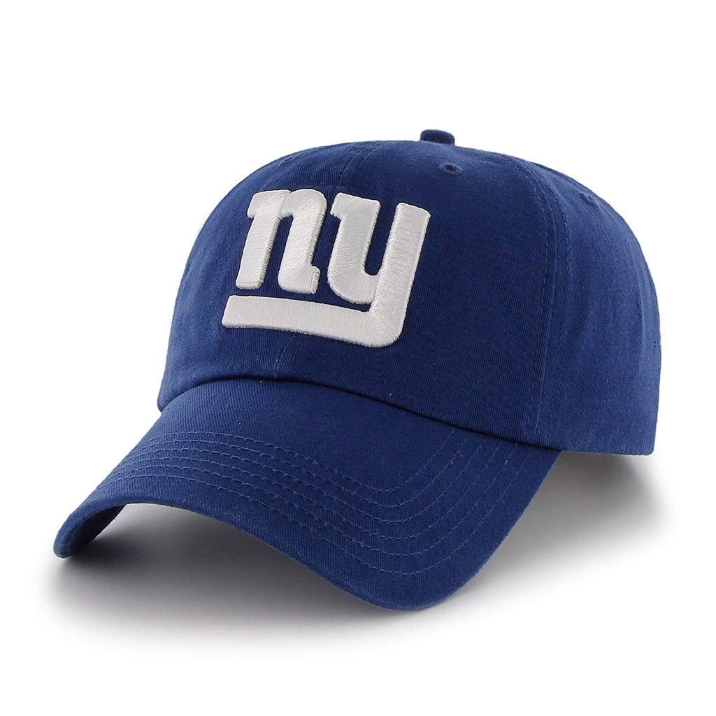 Blue NFL New York Giants Hat Sports Football Baseball Cap Embroidered Team Logo Athletic Games Clean Up Adjustable Cap/Hat Boys Kids Unisex Fan