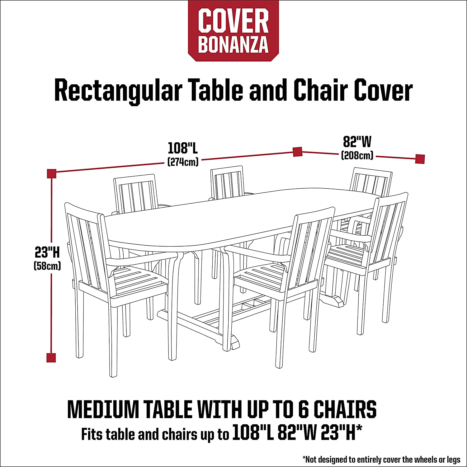 MISC Cover 108 Inch Rectangle Table Chair Polyester Waterproof