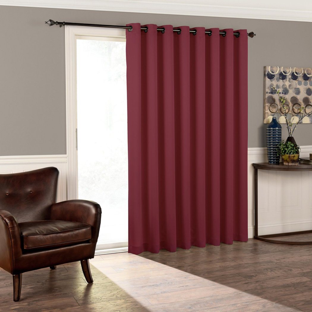 Blackout Sliding Door Curtain Sliding Patio Door Panel Window Treatment Single Panel Modern Contemporary Curtains