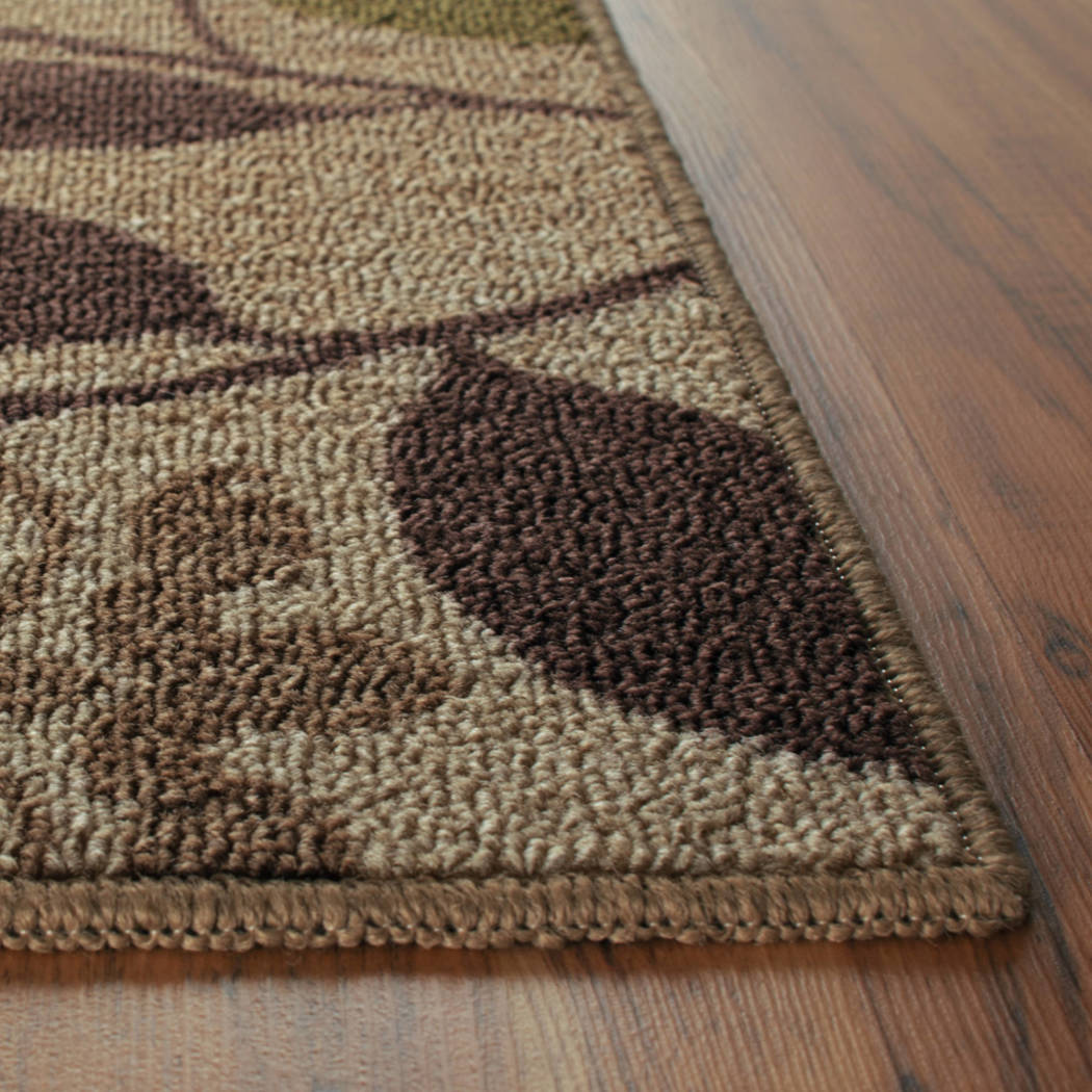 Mainstays Belvedere 3 Piece Nylon Area Rug Set Beige - Diamond Home USA