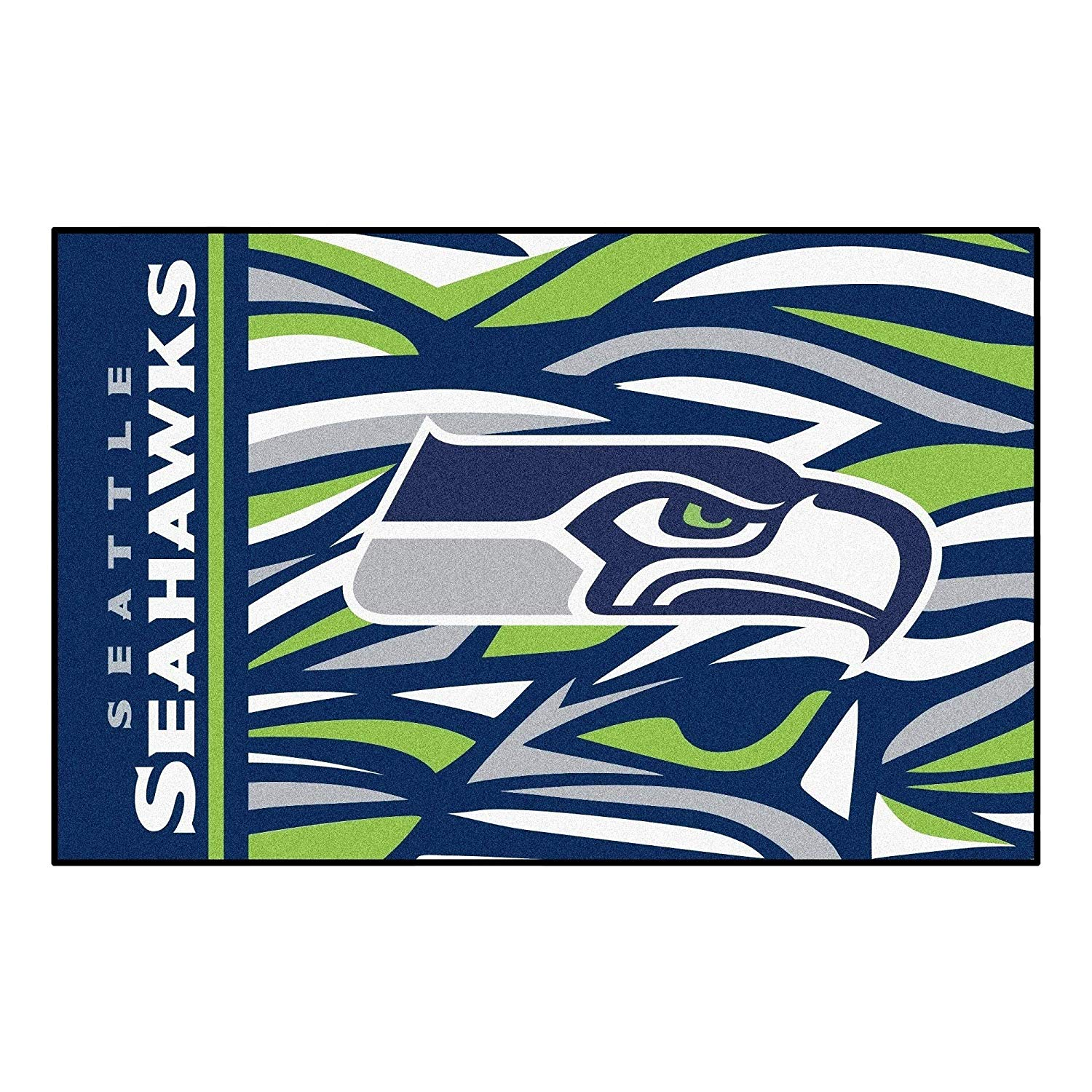 "19""X30"" NFL Seattle Seahawks Area Rug Football Themed Room Entry Mat Sports Patterned Rectangle Rug Bathroom Livingroom Office Carpet Team Logo Fan"