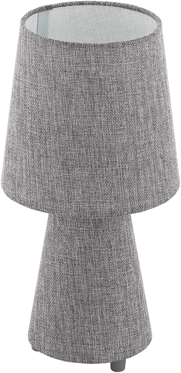 Table Lamp Grey Fabric Finish Transitional