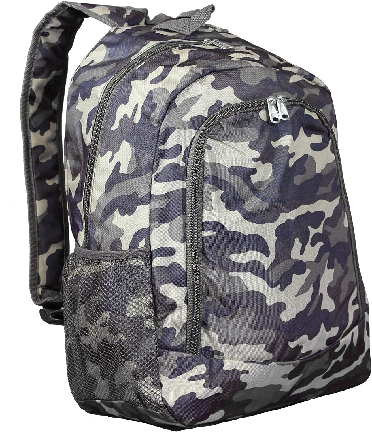 Brown Camouflage 16 Inch Multipurpose Backpack Color Polyester Compartment Adjustable Strap