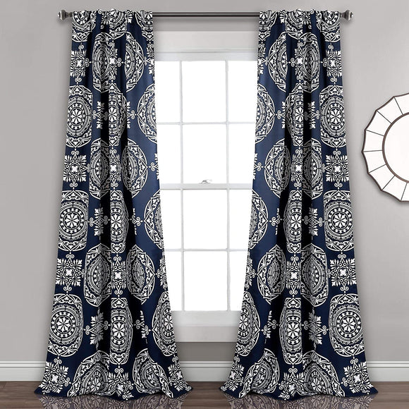 Medallion Room Darkening Window Curtain Panel Pair 52