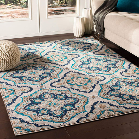 MISC Transitional Camel Area Rug 5'3