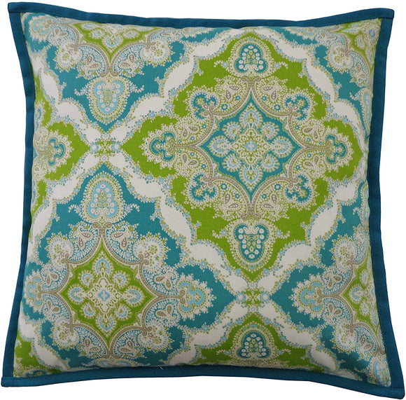 Handmade Turquoise Throw Pillow 20