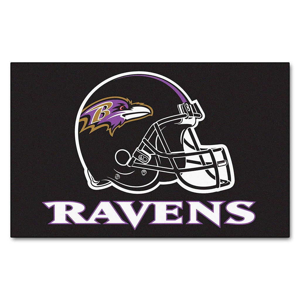 5'x8' NFL Ravens Sports Football Area Rug Team Logo Printed Large Mat Floor Carpet Bedroom Living Room Bathroom Home Decor Athletic Game Fans