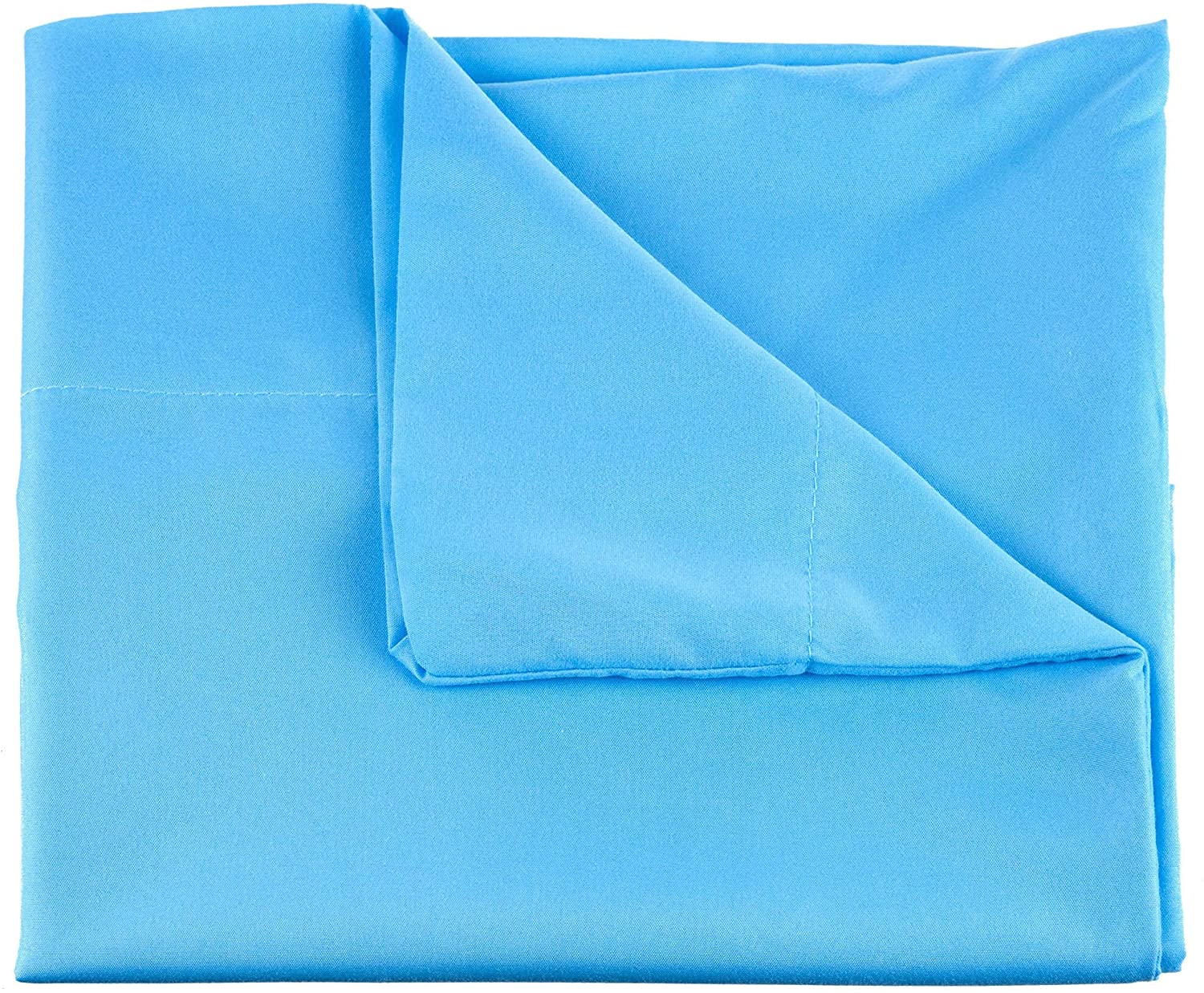Home Series 1200 Thread Count Sheet Set Twin XL Light Blue Solid Color Casual Victorian Cotton Blend Fully Elasticized Fitted Stain Resistant