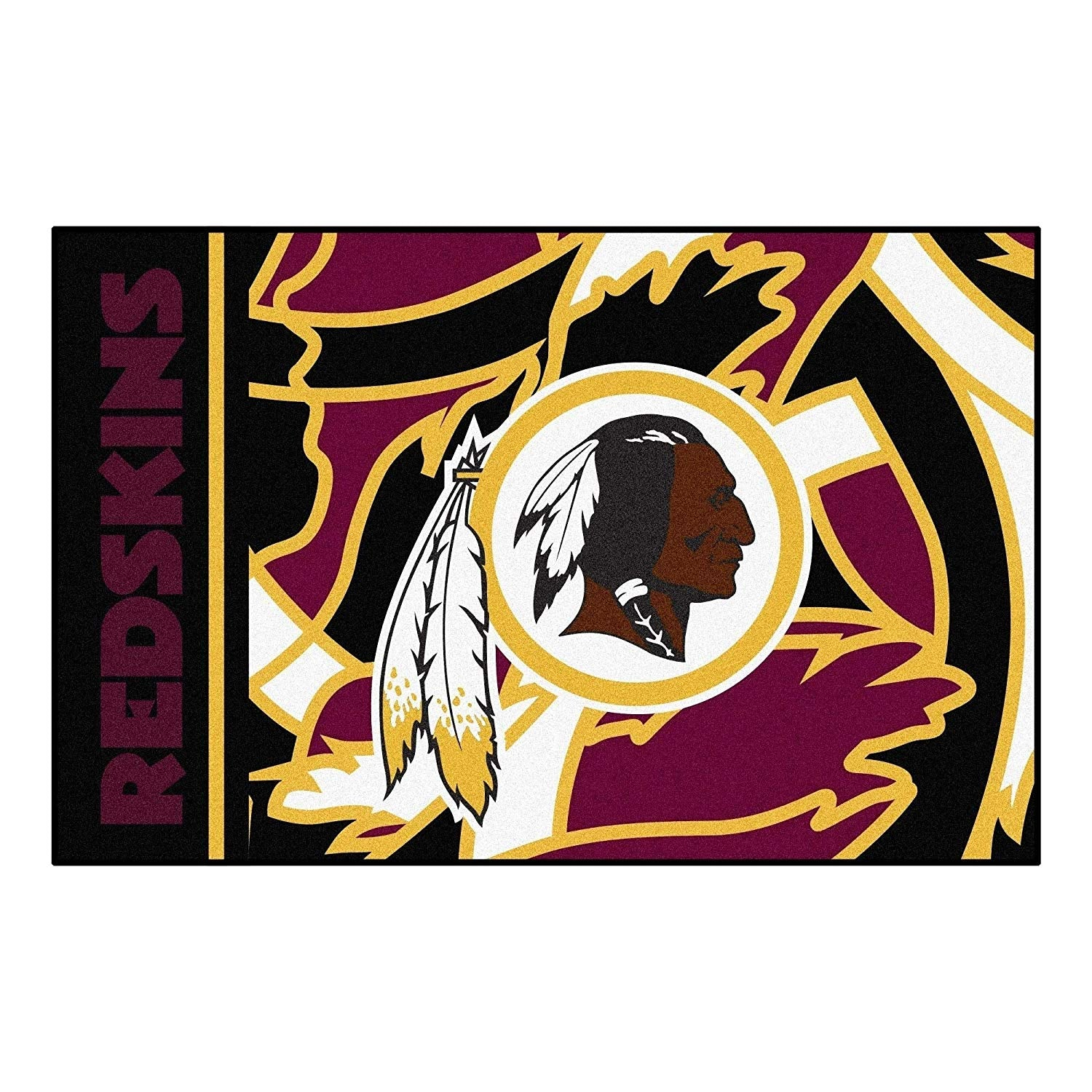 "19""X30"" NFL Washington Redskins Rug Sports Football Area Rug Room Entry Mat Rectangle Bathroom Livingroom Entryway Floor Carpet Doormat Team Logo Fan"