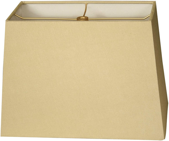 Rectangle Hard Back Lamp Shade Antique Gold (7x14) X (9x16) 11 Traditional