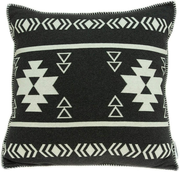 Sioux Southwest Black Pillow Cover Down Insert Color Solid Cotton Handmade