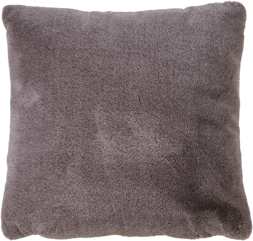 Unknown1 Fur Design Throw Pillow Grey Purple Solid Color Casual Glam Modern Contemporary Polyester Single Removable Cover