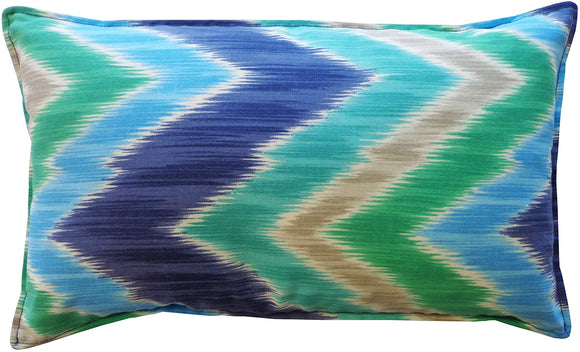Handmade Pulse Sky Throw Pillow Blue Green Grey White Polyester