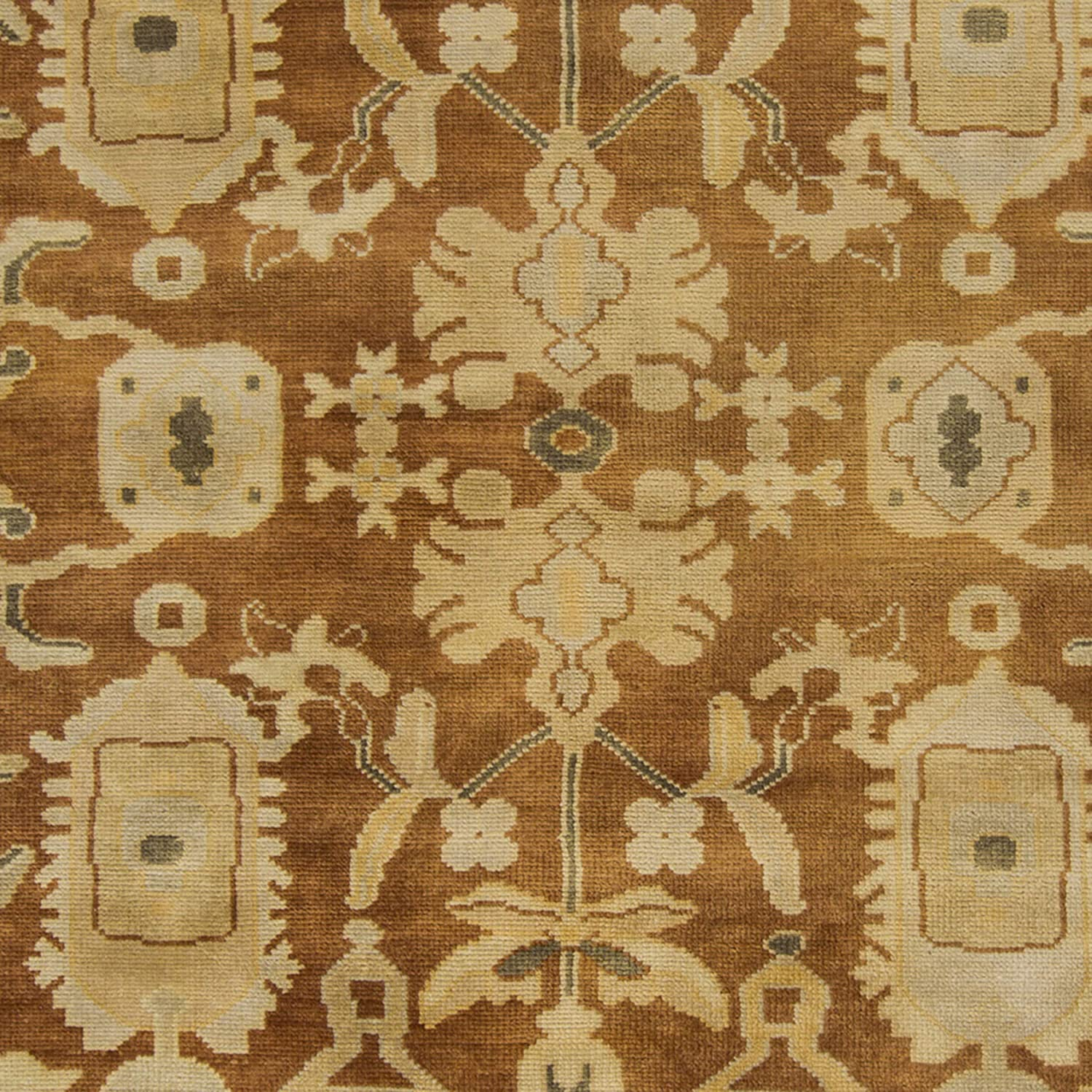 MISC Hand Knotted Floral New Zealand Wool Area Rug 2' X 3' Orange Paisley Natural Fiber Latex Free Handmade