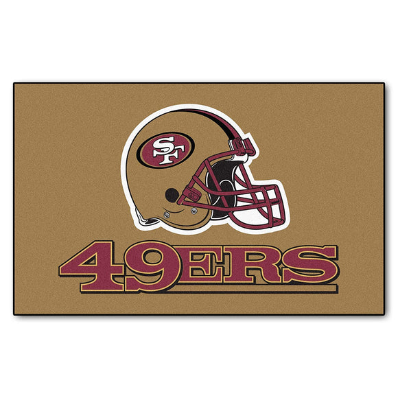 5'x8' NFL San Francisco 49ers Mat Sports Football Area Rug Team Logo Printed Large Mat Floor Carpet Bedroom Living Room Bathroom Home Decor Athletic