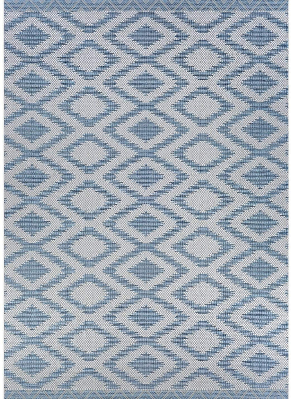 Blue Indoor/Outdoor Runner Rug 2'3