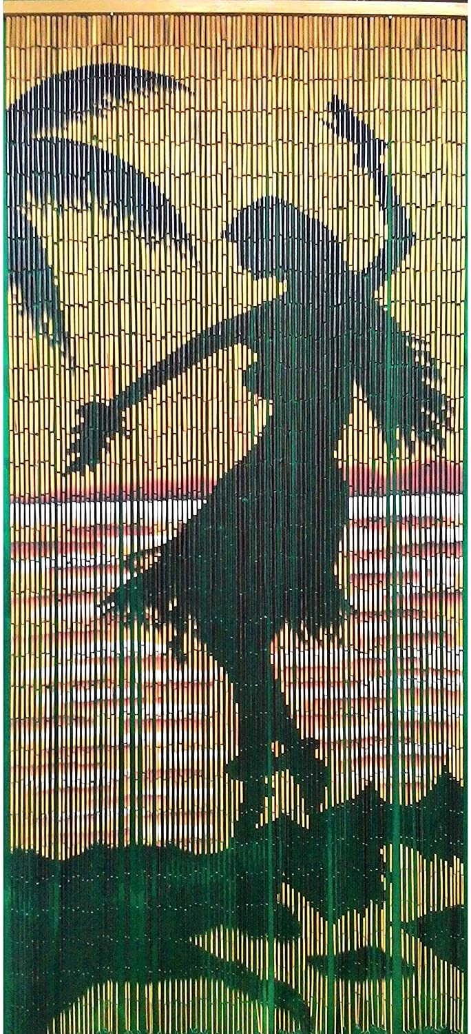 Handmade Hula Girl Silohuette Curtain (Vietnam) Color Hand Painted