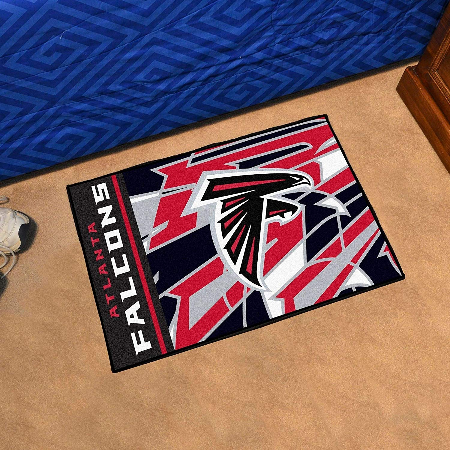 "19""X30"" NFL Atlanta Falcons Area Rug Football Themed Room Entry Mat Sports Patterned Rectangle Rug Bathroom Livingroom Office Carpet Team Logo Fan"