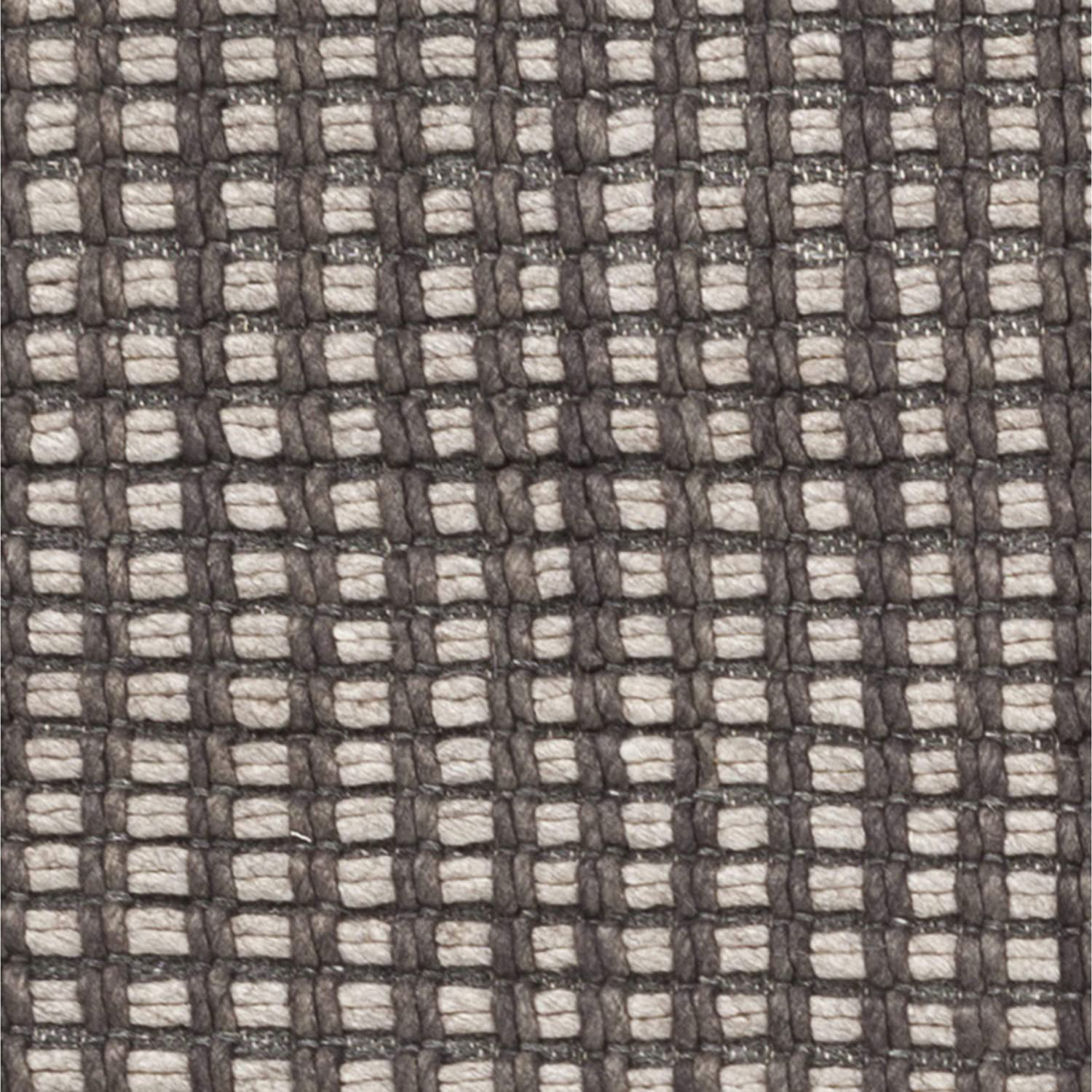 MISC Hand Woven Casual Felted Wool Area Rug 2' X 3' Grey Stripe Latex Free Handmade