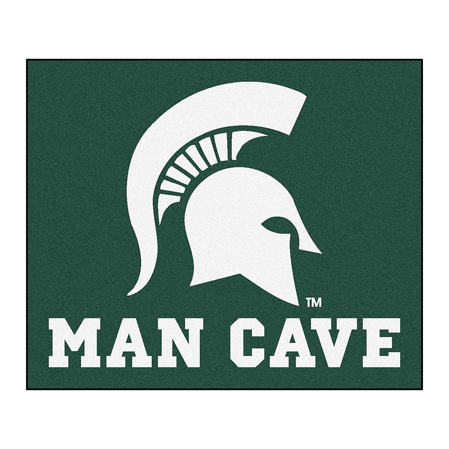 5'x6' NCAA Spartans Mat Sports Basketball Area Rug Team Logo Printed Large Mat Floor Carpet Bedroom Living Room Tailgate Man Cave Home Decor Athletic