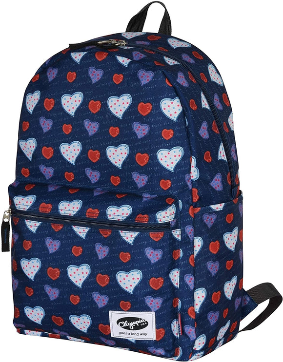 18 inch Classic School Backpack Hearts Color Designer Polyester Laptop Compartment