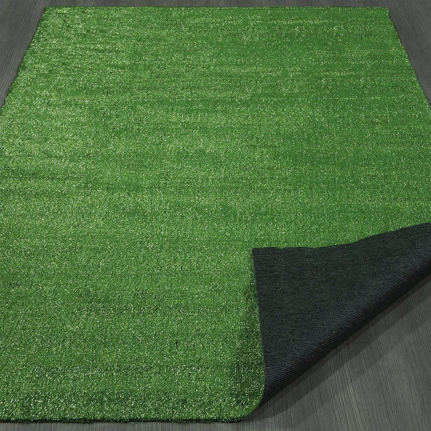 "Outdoor Turf Rug Green Artifical Grass Out Door Lawn Patio Landscape Theme Lawn Patio Area Rugs Lawncare Polypropylene 6'6"" x 9'3"""