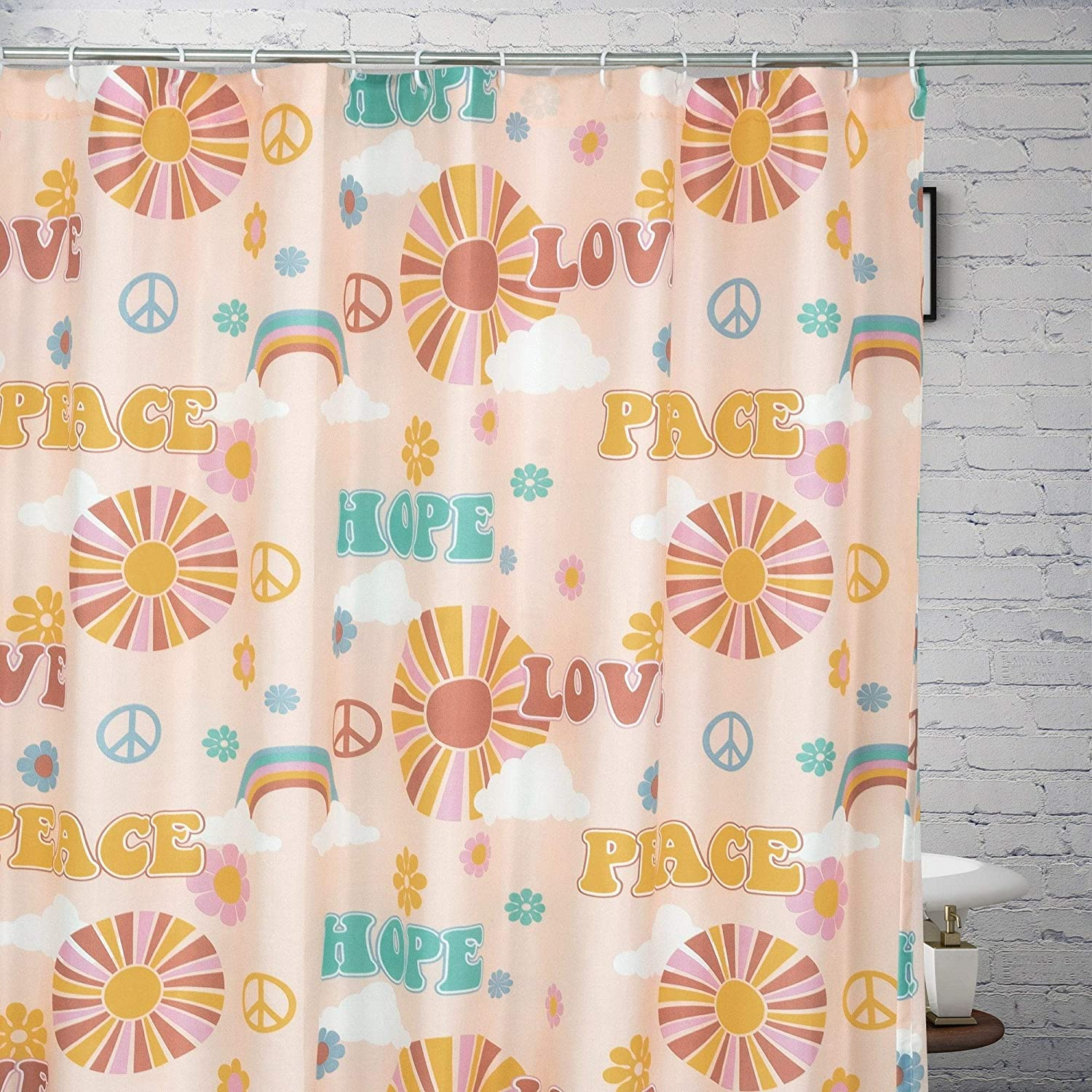 Shower Curtain 72 X Inches Novelty Bohemian Eclectic Mid Century Modern Polyester