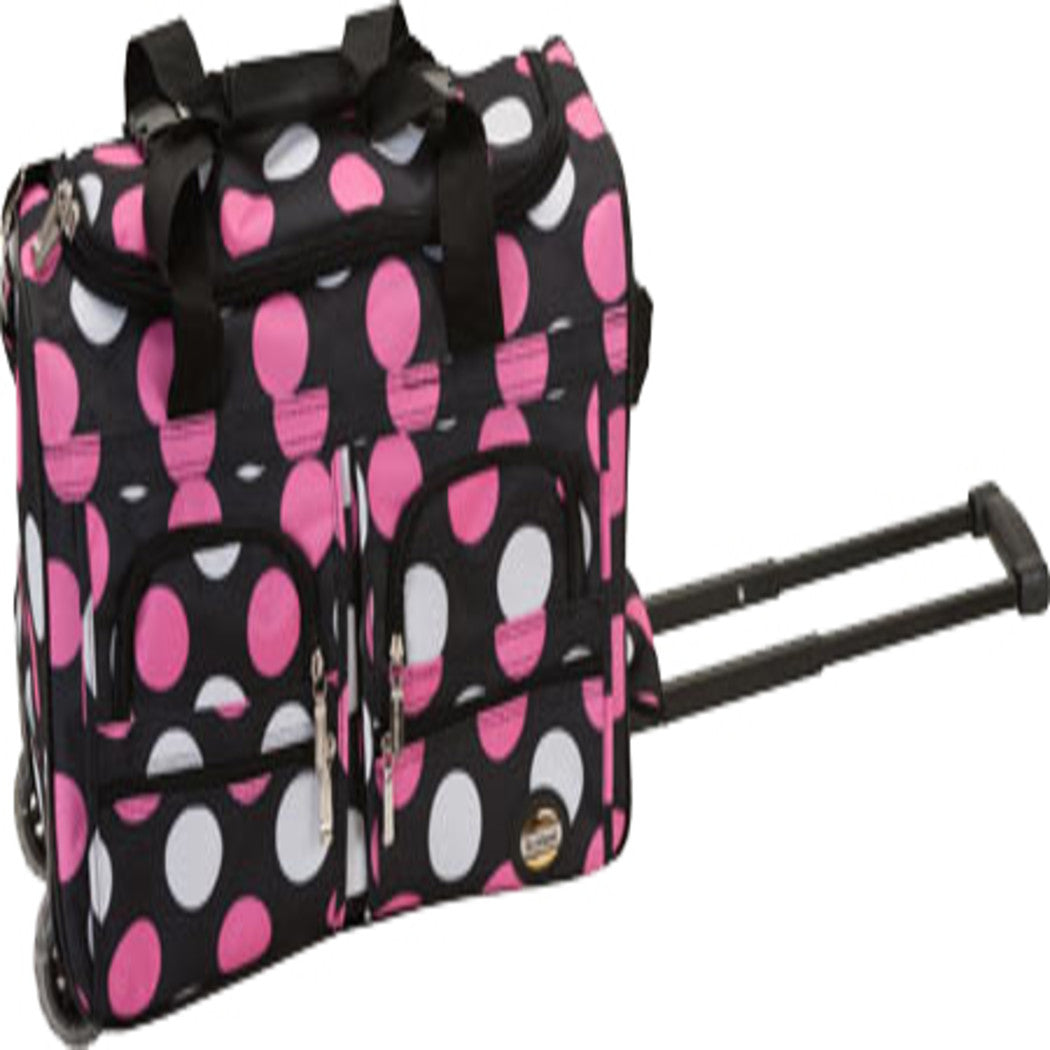 Polka Dot Rolling Duffle Bag Inline Skate Wheels Polyester