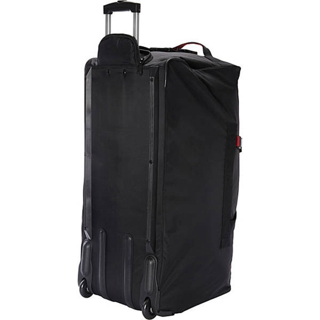 Black Red Rolling Duffel Bag Wheeled Luggage Travel Upright Ballistic Nylon - Diamond Home USA