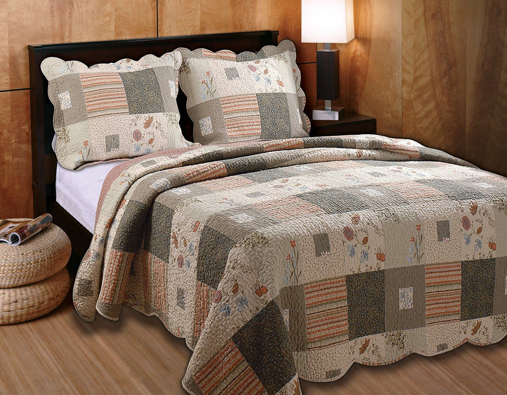 Greenland Home Sedona King 3 Piece Quilt Set