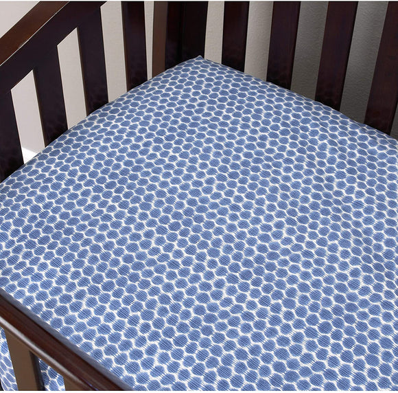 MISC Zebra Sheet Blue Animals Cotton