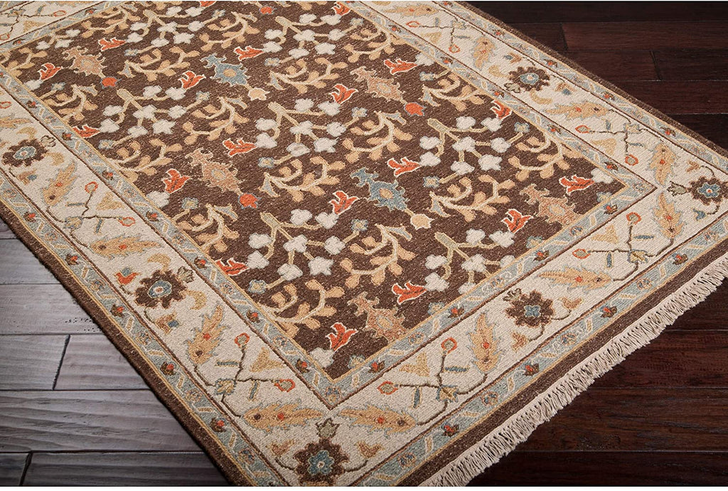 MISC Hand Knotted New Zealand Wool Area Rug 2' X 3' Brown Oriental Latex Free Handmade