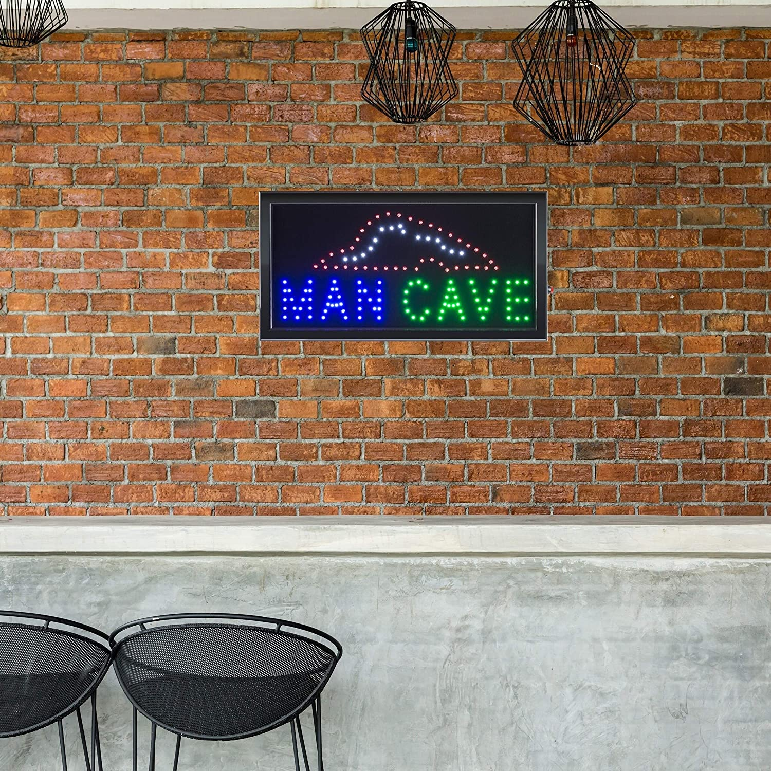 Man Cave Led Sign Lighted Neon Display Animation by Modern Contemporary