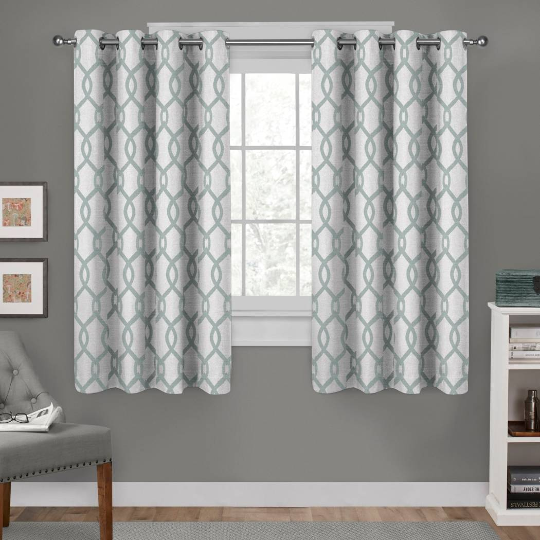 Diamond Curtains Panel Pair Set Drapes Geometric Abstract Pattern Window Treatments Elegant Themed Traditional