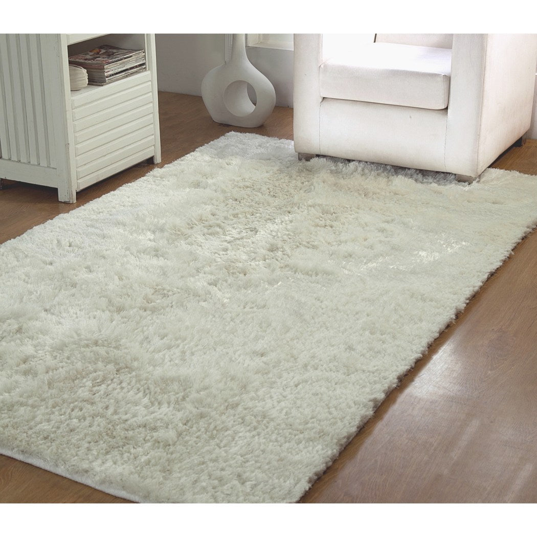 3 x 5 Home Hand Woven Plush Luxurious Shag Area Rug Cotton Polyester Shaggy Fuzzy Stylish Soft Cozy Cute Luxury Indoor Rectangular Bedroom Living Accent Carpet