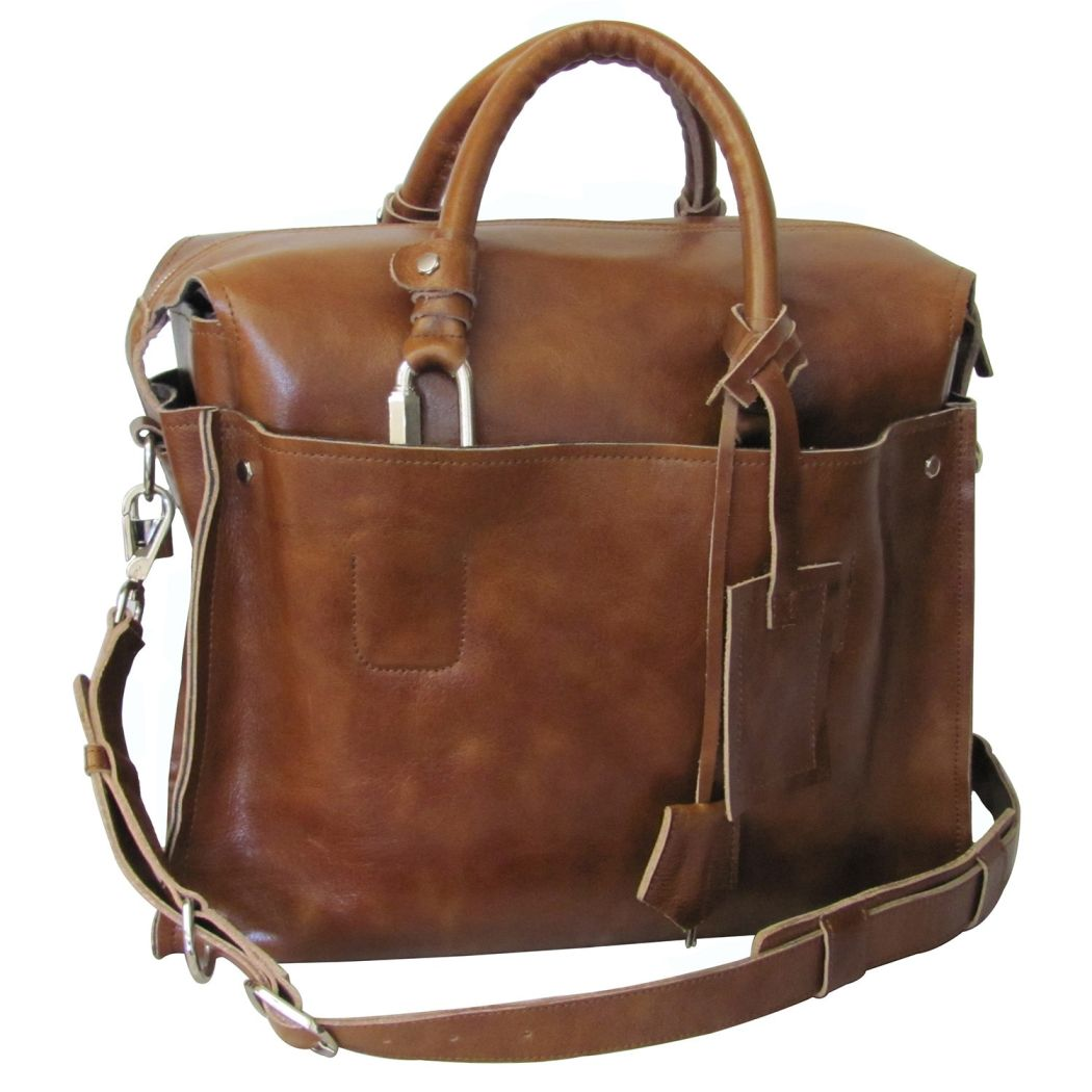 Litigator Briefcase Leather Pattern Business Softsided