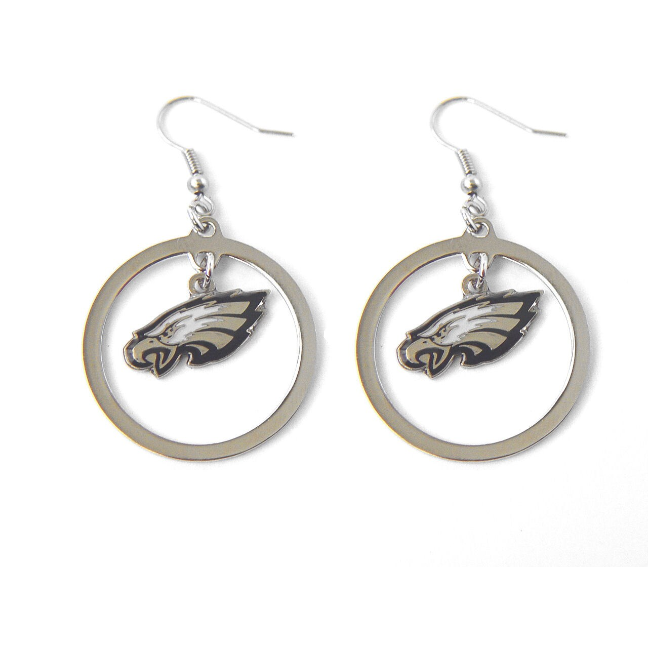 Philadelphia Eagles Dangle Logo Earring Set - Diamond Home USA