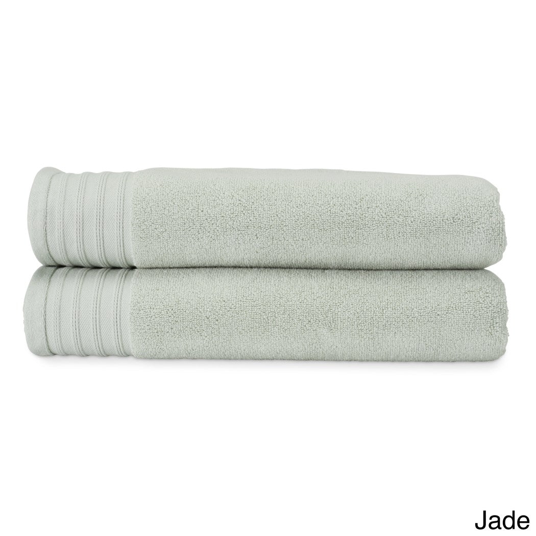 Oversized Stitched Stripe Boarder Bath Towel Set Oversize Large Warp Around Supremely Luxurious Comfortable Plush Towels Woven Design