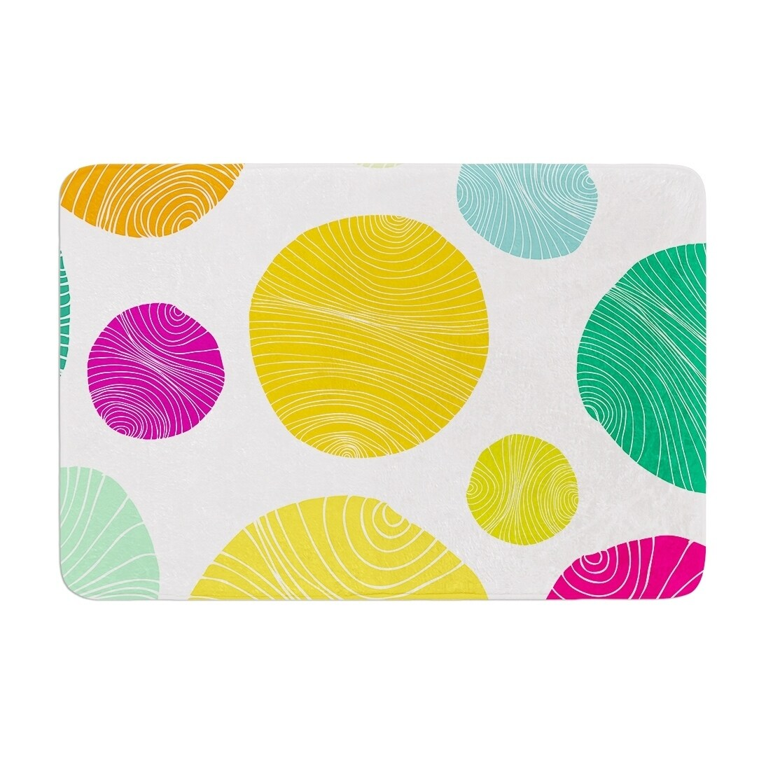 "Anchobee ""Eolo"" Memory Foam Bath Mat Yellow Single Piece - Diamond Home USA"