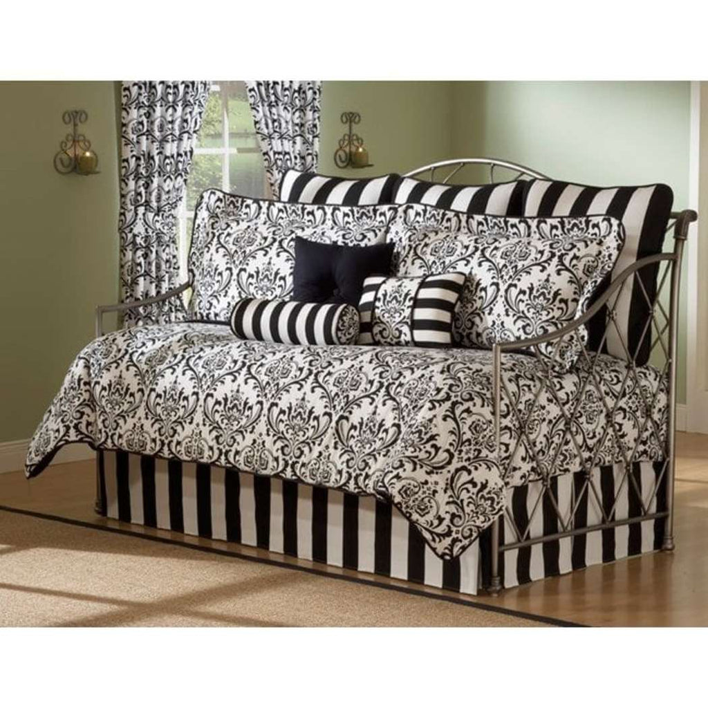 Daybed Comforter Set Bedding Black White Bed Bag Sheets Bedspread - Diamond Home USA