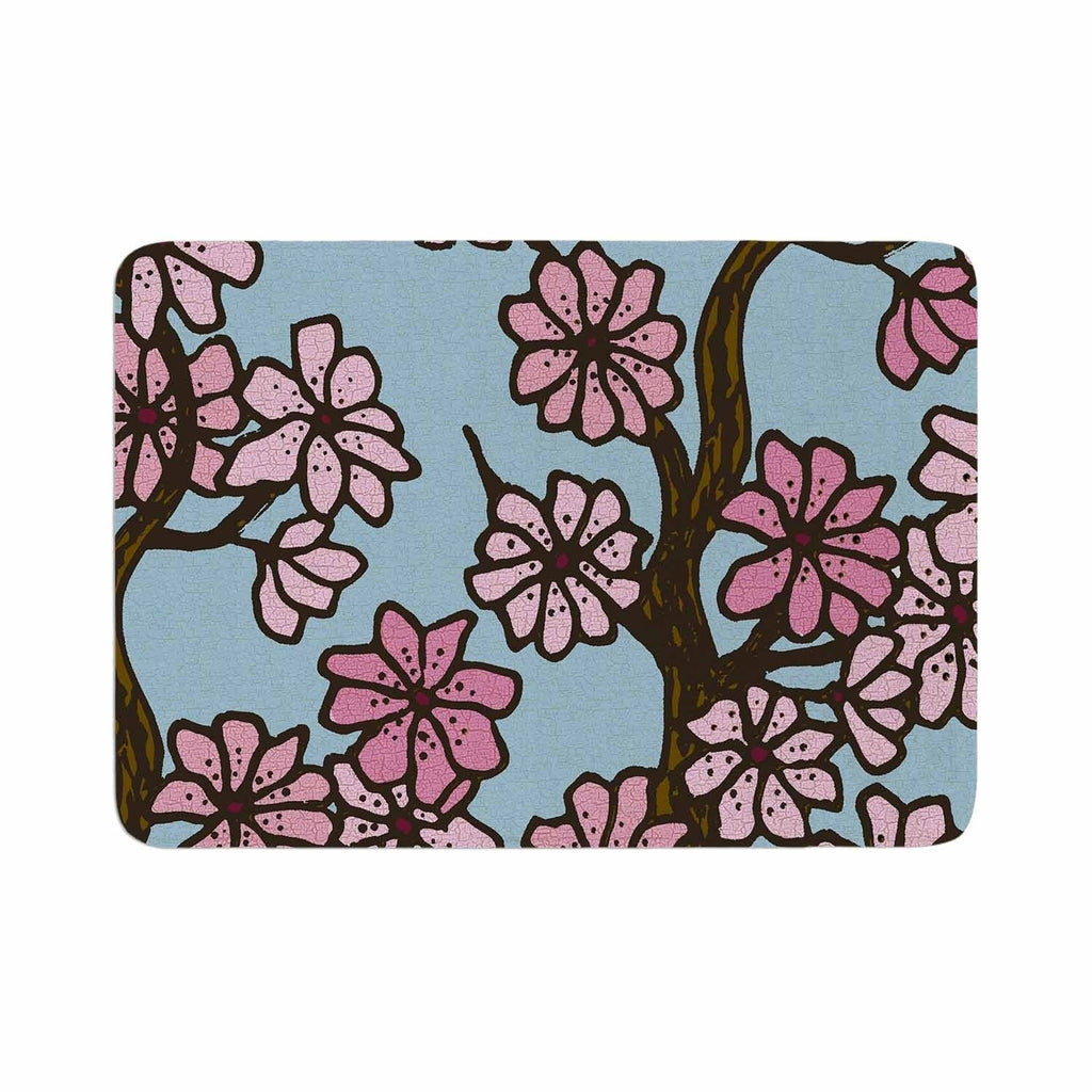 "Art Love Passion ""Cherry Blossom Day"" Memory Foam Bath Mat Pink Single Piece - Diamond Home USA"