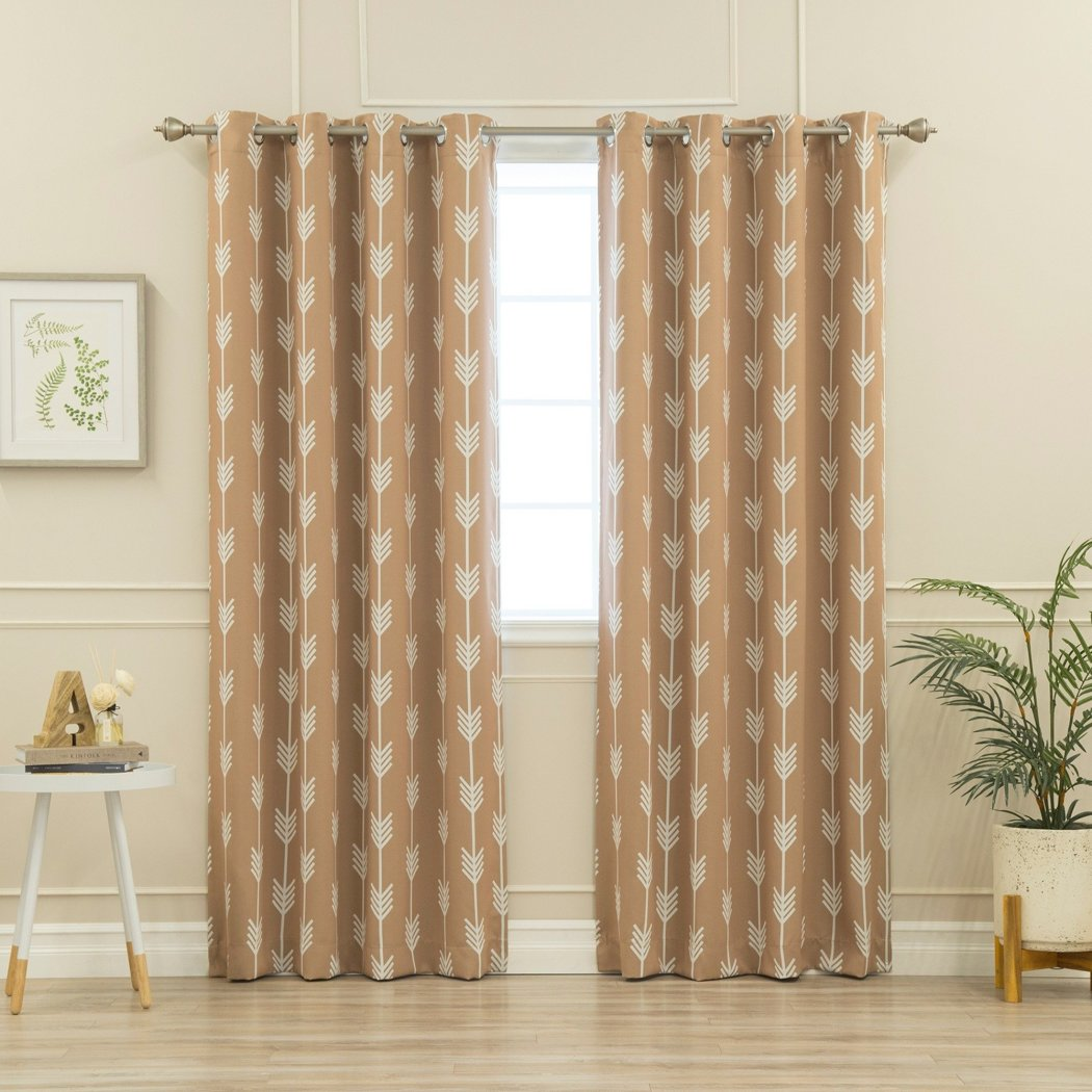 Graphic Pattern Window Curtain Set Panel Pair Off Tribal Arrow Printed Window Treatment Set Blackout Room ening Modern